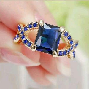 Jewelry - 10k gold filled sapphire colored size 7 ring